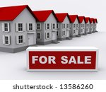 a lot of white houses   real... | Shutterstock . vector #13586260