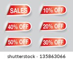 set of a labels sales and... | Shutterstock . vector #135863066