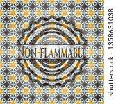non flammable arabic emblem.... | Shutterstock .eps vector #1358631038