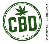 cbd   cannabidiol  sign or... | Shutterstock .eps vector #1358633975