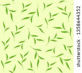 green leaves seamless pattern.... | Shutterstock . vector #1358644352