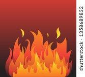 vector graphic flames... | Shutterstock .eps vector #1358689832