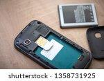 sim card for smart phone....   Shutterstock . vector #1358731925