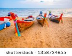 Fisherman Boats Sand Beach Sea - Fine Art prints
