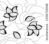hand drawn background.floral... | Shutterstock .eps vector #1358735048