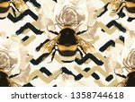 printable seamless pattern of... | Shutterstock . vector #1358744618
