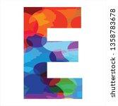 e initials colourful funny logo | Shutterstock .eps vector #1358783678