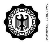 stamp germany. german eagle in... | Shutterstock .eps vector #1358784992