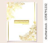romantic wedding invitation... | Shutterstock .eps vector #1358791232
