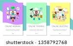 distance education set of... | Shutterstock .eps vector #1358792768