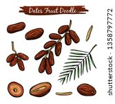 dates fruit vector illustration ... | Shutterstock .eps vector #1358797772