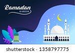 modern background of ramadan... | Shutterstock .eps vector #1358797775
