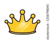 vector cartoon crown | Shutterstock .eps vector #1358798045