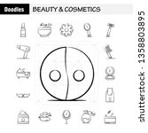 beauty and cosmetics hand drawn ...
