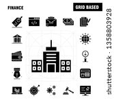 finance solid glyph icons set...