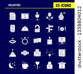 valentine solid glyph icon pack ... | Shutterstock .eps vector #1358804012