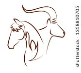 cute animals draw   Shutterstock .eps vector #1358810705