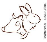cute animals draw | Shutterstock .eps vector #1358810708