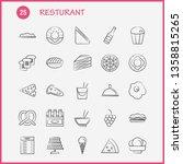 restaurant  hand drawn icons...   Shutterstock .eps vector #1358815265