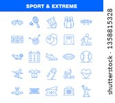 sport and extreme line icons... | Shutterstock .eps vector #1358815328