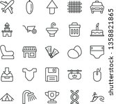 thin line vector icon set  ... | Shutterstock .eps vector #1358821865