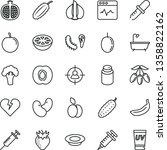 thin line vector icon set  ... | Shutterstock .eps vector #1358822162