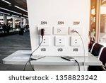 travelers use smartphone for...   Shutterstock . vector #1358823242