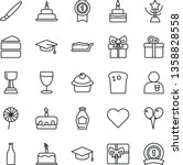 thin line vector icon set  ... | Shutterstock .eps vector #1358828558