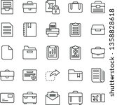 thin line vector icon set  ... | Shutterstock .eps vector #1358828618
