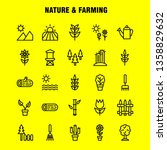 nature and farming line icon...