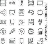 thin line vector icon set  ...   Shutterstock .eps vector #1358831228