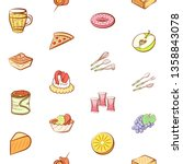 food images. background for... | Shutterstock .eps vector #1358843078