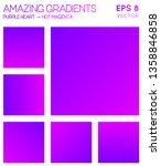 colorful gradients in purple...   Shutterstock .eps vector #1358846858