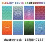 elegant cover backgrounds.... | Shutterstock .eps vector #1358847185