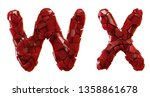 letter set w  x made of 3d... | Shutterstock . vector #1358861678