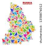 mosaic sverdlovsk region map of ...   Shutterstock .eps vector #1358876012