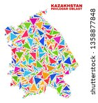 mosaic pavlodar region map of...   Shutterstock .eps vector #1358877848