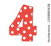 Hand Drawn Vector 4 Four Number ...