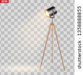 decorative spotlight floor lamp ... | Shutterstock .eps vector #1358888855