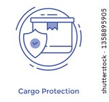 package with shield  verified... | Shutterstock .eps vector #1358895905