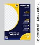 brochure business template... | Shutterstock .eps vector #1358910548