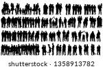 vector isolated silhouette... | Shutterstock .eps vector #1358913782