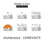 line icon symbol set  weather...   Shutterstock .eps vector #1358915675