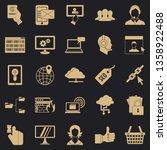 telephone base icons set.... | Shutterstock .eps vector #1358922488