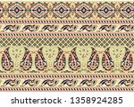 seamless traditional indian... | Shutterstock . vector #1358924285