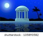 antique rotunda in beams of the ... | Shutterstock . vector #135893582