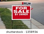 for sale by owner sign | Shutterstock . vector #1358936