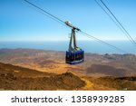 Mount Teide Cable Car Going Up...