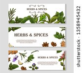 card with place for text. herbs ... | Shutterstock .eps vector #1358945432