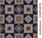 ethnic boho seamless pattern.... | Shutterstock .eps vector #1358946878